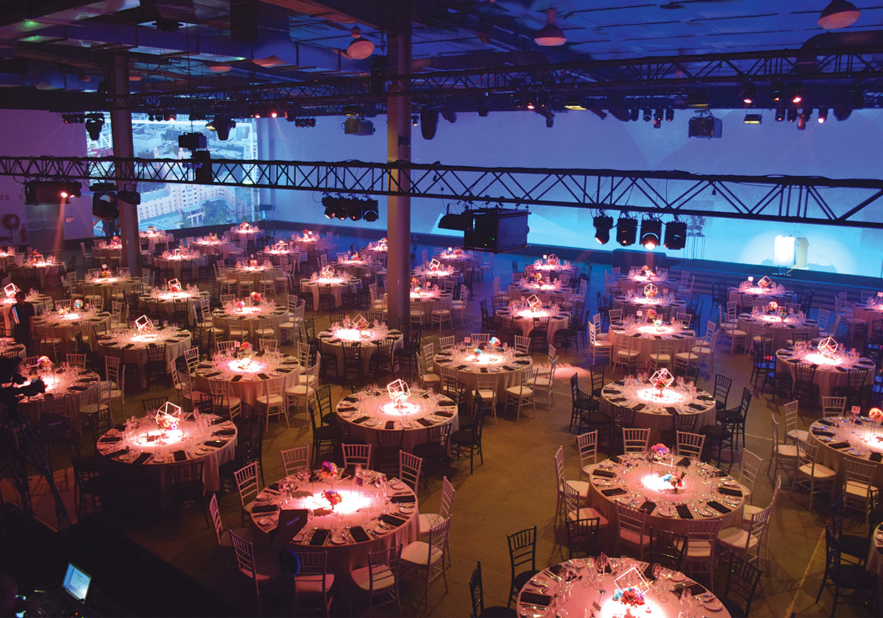 The Venu Alexandria set up for gala dinner.